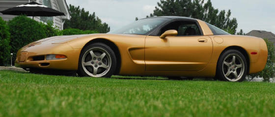 1998 Aztec Gold Corvette