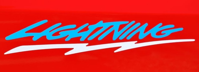 Lightninglogo on 1994 Ford Lightning